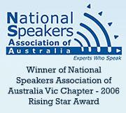 DrCeli.com.au-National Speakers Association-Rising Star