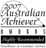 DrCeli.com.au-2007 Australian Achiever Awards-Highly Recommended