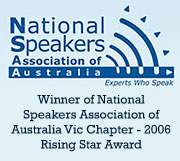 DrCeli.com.au-National Speakers Association-Rising Star